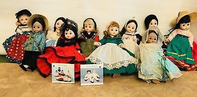 """LOT OF 10 Vintage Madame Alexander 8"""" Dolls No boxes...  Good Clean Condition"""
