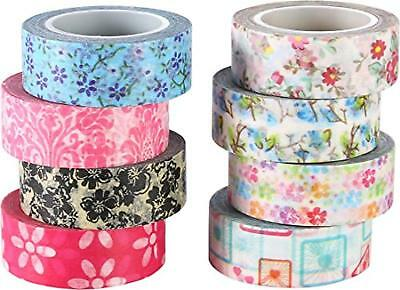 15mm x 9.14m Ciascuno,Set di 4 ST Glitter Washi Tape-Nastro Decorativo Glitterato