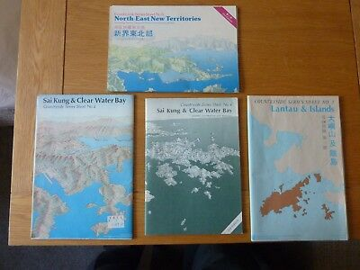 3 X Hong Kong & New Territories Countryside Series Maps 1980