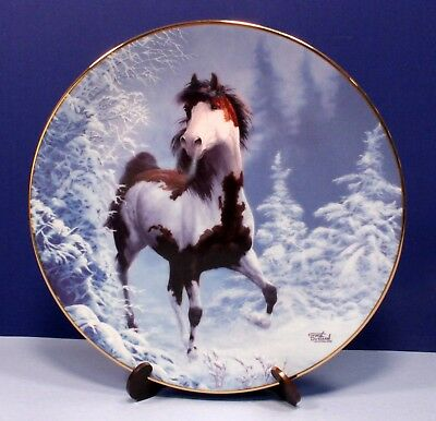 "Hamilton Collection Unbridled Spirit Horse Plate ""Winter Renegade"" - Signed"
