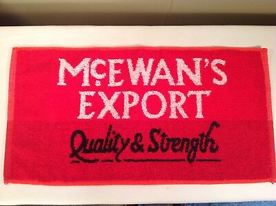 NEW McEwan's Export Ale Bar Towel Red Black White Scotland