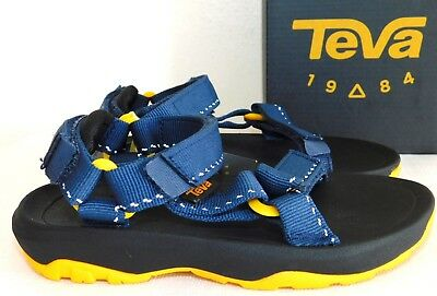 e743eef6e27102 New Size 11 Teva Hurricane Xlt 2 Speck Navy Blue Sport Sandals Girls Boys  Child