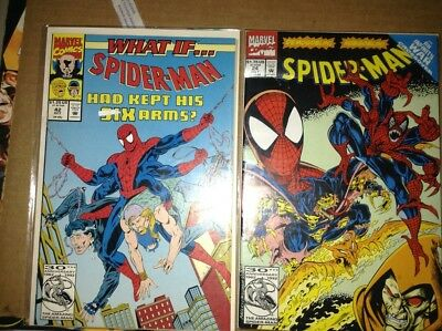 Spider-Man #24, What-If #42, What-If #30 (1992, Marvel) Six-armed Spidey!