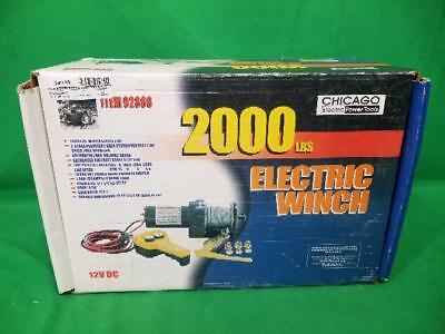 Chicago Electric 92860 2000Lb Electric Winch (Ss2023805)