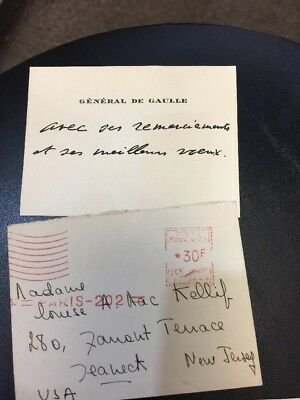 Charles de Gaulle - French general and president - Signed letter