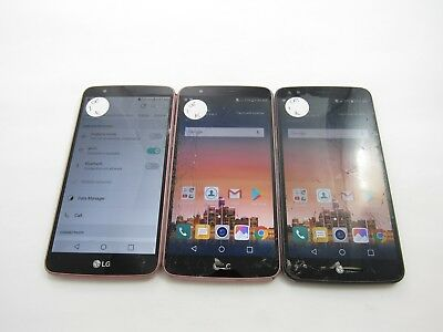 Cracked Lot of 3 LG Stylo 3 M430 Cricket Check IMEI 4CR-793