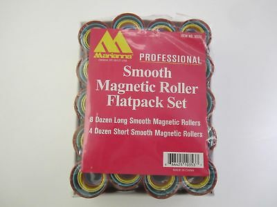 MARIANNA 144 pieces Smooth Magnetic Hair Perm Roller Flat pack Set #10353