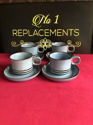 4 x Denby Corfu Tea Cups And Saucers 2 Sets Available