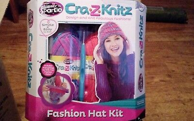 Cra.z.knit fashion hat kit new and sealed