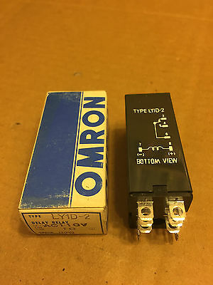 Omron LY1D-2 Delay Relay AC110V Time 10 Seconds
