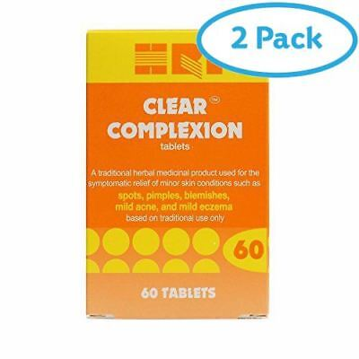 2 Packs of HRI Clear Complexion Tablets 60 Tablets | AMAZON BANNED FR