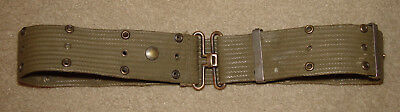 WWII US Army/USMC Pistol Utility Web Belt - Brass Fittings Up to About 40""