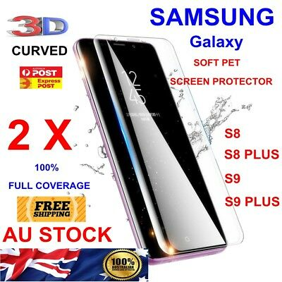 2 X HD Screen Protector Film Full Coverage PET For Samsung Galaxy S8 S8+ S9 S9+