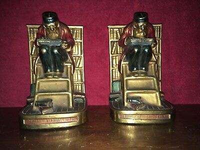 """Scholars in Library"" Marion Bronze Clad Bookends"