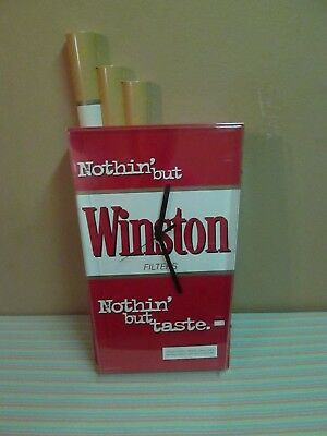 Winston Reynolds Tobacco Clock Advertising Sign 1996