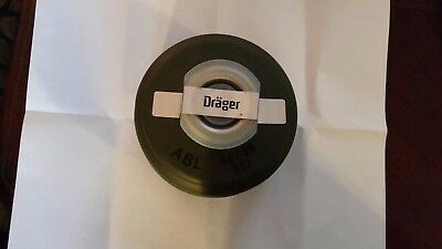 (2) German Surplus Drager 40mm NBC Gas Mask Filters