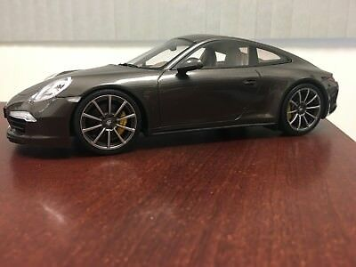Rare 1/18 GT Spirit Porsche 911(991) Carrera 4S Anthracite Brown 1000pcs GT026