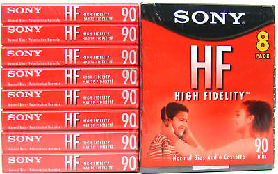 16 New Sealed Sony HF High Fidelity 90 Minute Cassette Tapes