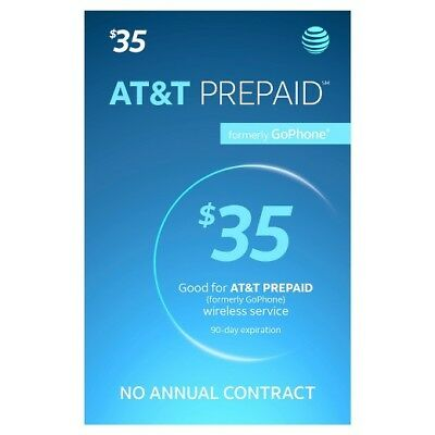 AT&T Go Phone Refill Card $35