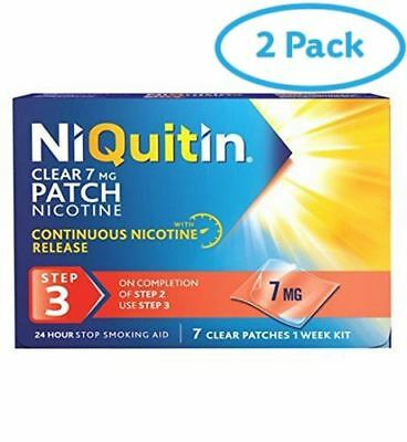 2 Packs of Niquitin Cq Clear Patch 7Mg | AMAZON BANNED