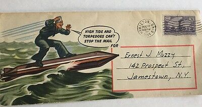World War 2 Large 1944 Colored Cachet