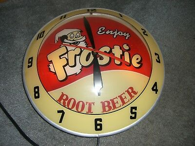 Double Bubble Clock ***rare Scarce*** Frosty Root Beer *** Replica **only425**