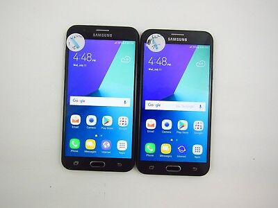 Lot of 2 Cracked Samsung Galaxy J7 J727U Unknown Carrier Check IMEI 5CR 1074