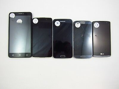 Lot of 5 Parts & Repair Assorted Cellphones Check IMEI 5PR 898