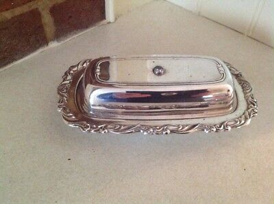 ONEIDA SILVERSMITHS silver plated butter dish - collectable, rare in UK