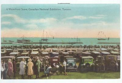 1930 Waterfront Scene Canadian National Exhibition Toronto Canada PC Postcard