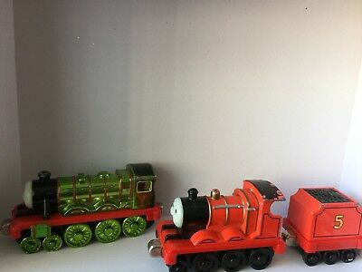 Thomas The Tank Engine Diecast Trains James with tender & Henry -  Die Cast