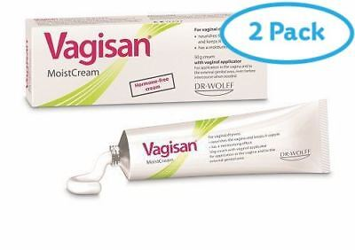 2 Packs of Vagisan Moist Cream (Hormone-Free) 50g