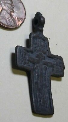 Ancient Christian Byzantine Bronze Cross ,Circa 1200 AD, Very RARE,/T5