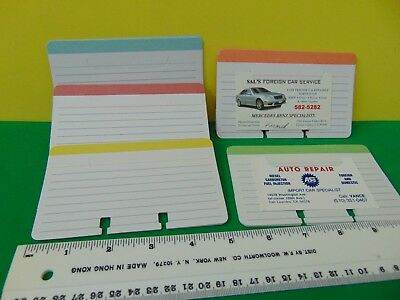 """40 Brand New 5 Color Ruled Bookmark Cards for Rolodex 3 x 5"""" Card File"""