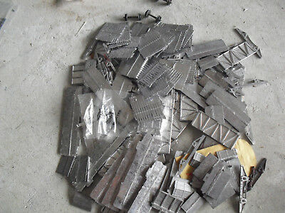 Large Lot of Vintage Metal HO Scale Train Car Parts and Trim Pieces