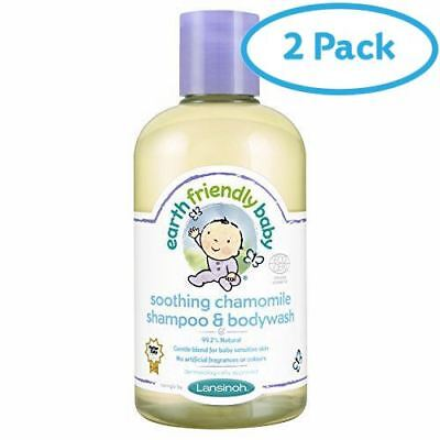 2 Packs of Earth Friendly Baby Soothing Chamomile Shampoo & Bodywash 250ml