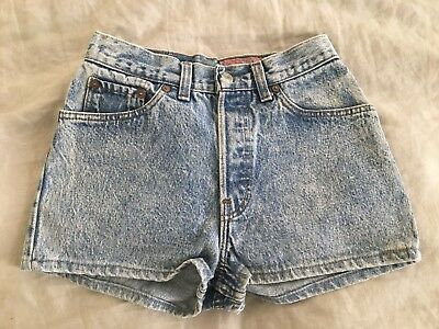 Vintage Levis Denim Jean Shorts Womens Size 9 Waist 26 Stone Washed Daisy Duke