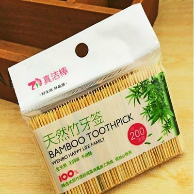 200pcs Wooden Toothpick Bamboo Wood Pick Stick Cocktail Party Food Craft IT