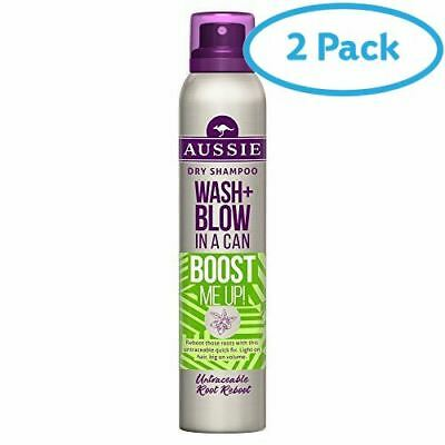 2 Packs of Aussie Miracle Dry Shampoo Aussome Volume 180ml