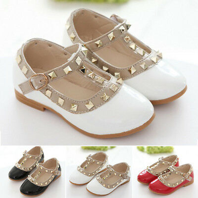 Girls Dancing shoes Kids Toddler Hollow Princess Sandals PU Leather Buckle Baby