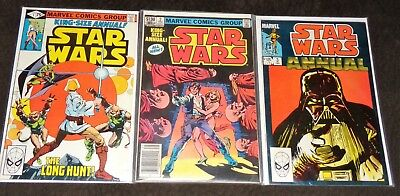 Vintage Star Wars Marvel Comics King Size Annual Issues 1 2 & 3 Comic Book Lot