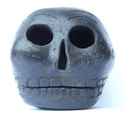Large Aztec Death Whistle black clay relic ancient terrifying instrument scary!