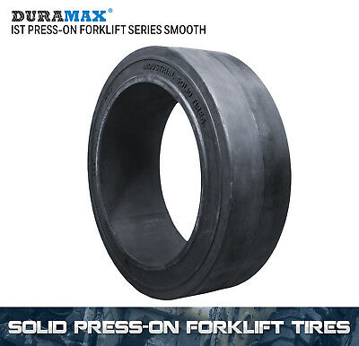 18x8x12-1/8 Duramax IST Smooth Solid Press On Forklift Tire (1 Tire)
