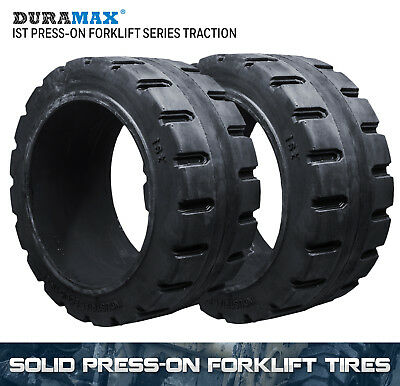 16x6x10.5 Duramax IST Traction Solid Press On Forklift Tire (2 Tires)