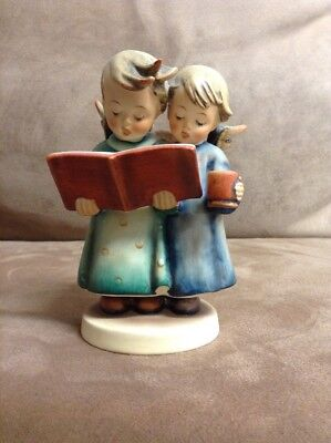 "Hummel Porcelain Figurine-TMK 2-FULL BEE-#193 Angel Duet-5"" HIGH GRADE, no craze"
