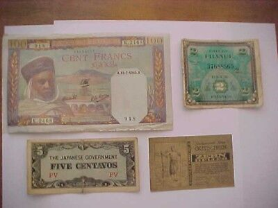 3 foreign money - one that I'm not sure what it is