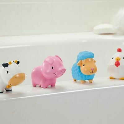 Munchkin Toddler Squirtin Bath Toy Barnyard Friends Multi - 4 Pack