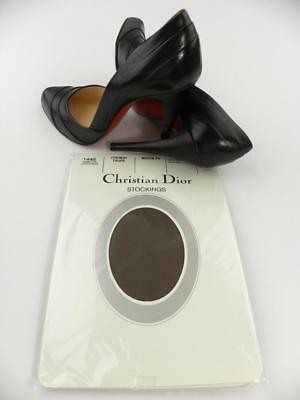SASSY 2 Pr CHRISTIAN DIOR FRENCH TAUPE DEMI-TOE Vintage Nylon Stockings  9.5/34""