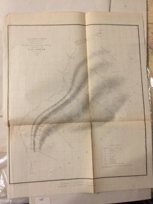 Antique 1853 Nautical Charts Map - Authenticated