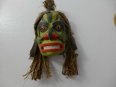 Northwest Coast Hand Carved Ghost MASK by carving instructor Ray Watkins